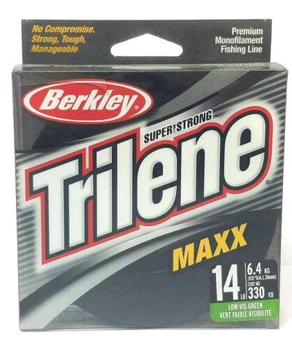 BERKLEY TRILENE MAXX 14LB//330YDS LOW-VIS GREEN MONOFILAMENT FISHING LINE
