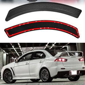 Black-Carbon-Fiber-Front-Fender-Vent-EVO-Sticker-Cover-for-Lancer-2008-2015