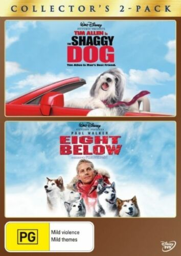 1 of 1 - The Shaggy Dog / Eight Below DVD NEW R4 *2 Movie Set*