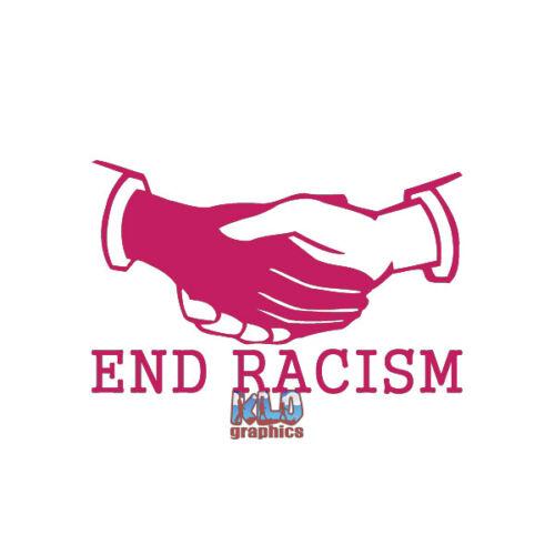 END RACISM Vinyl Sticker Car Truck Window Black Lives Matter Everyone Matters