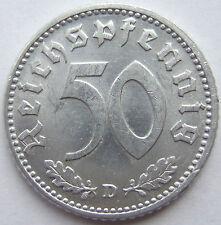 TOP! 50 REICHSPFENNIG 1940 D in fast STEMPELGLANZ SELTEN !!!