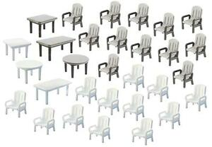 Faller-180439-Gauge-H0-24-Garden-Chairs-And-6-Table-New-Original-Packaging