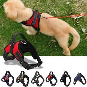 Non-Pull-Dog-Harness-Adjustable-Pet-Puppy-Walking-Strap-Vest-Soft-Chest-Belt-UK