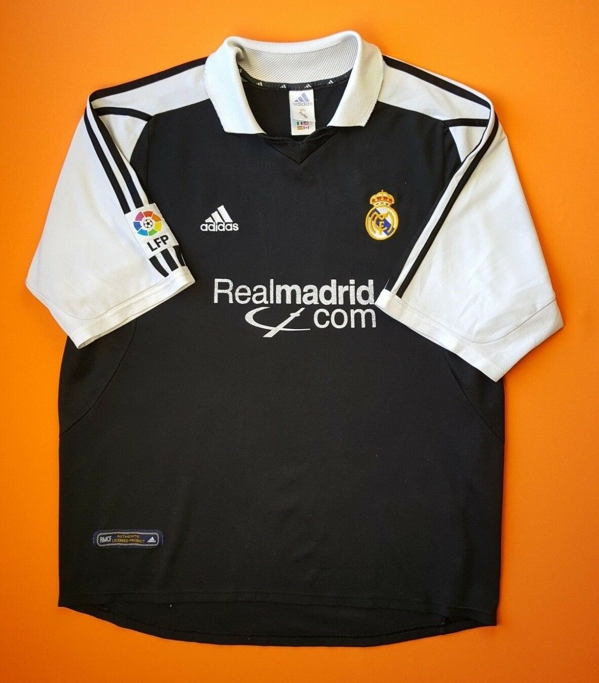 f638fdf21f7 4 5 Real Madrid jersey XL 2001 2002 away shirt soccer football Adidas