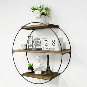 Modern 3 Tier Wall Floating Shelves Geometric Style F Bedroom Living Room Office