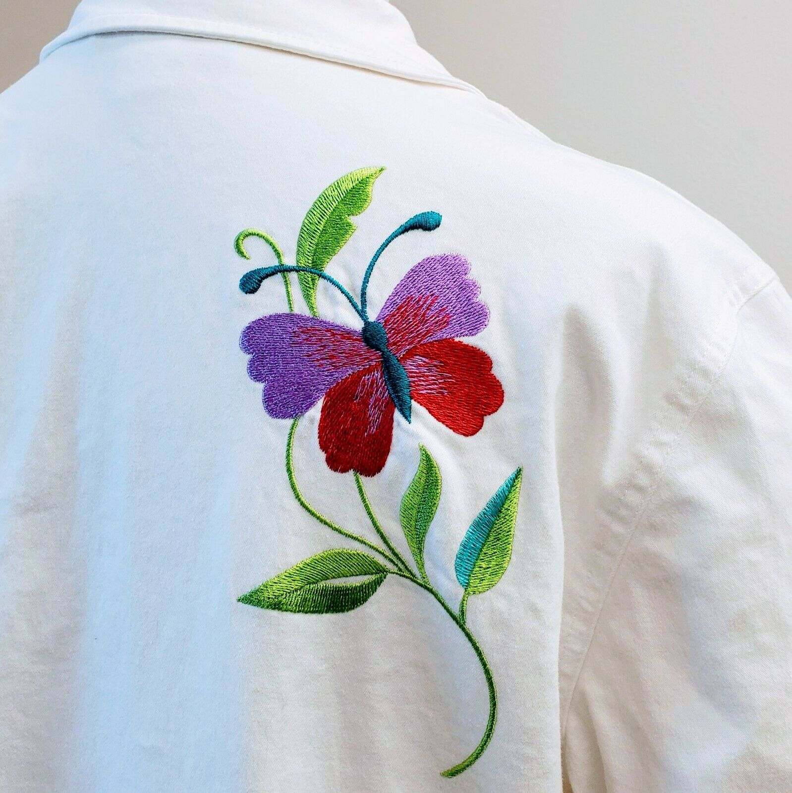 DENIM & CO. Embroidered Cotton Jacket please see … - image 6