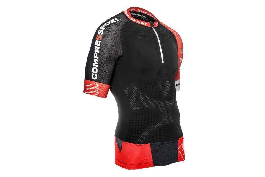Maglia tecnica a compressione Compressport Trail Running Shirt V20