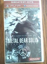 Metal Gear Solid Peace Walker -Sony PSP Portable - NEW