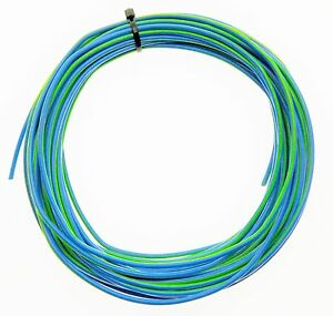Kabel 0,5 qmm blau//hellgrün Litze Leitung Fahrzeug Auto