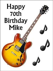 Guitar Cake Topper Ebay