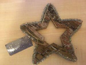 Alberi Di Natale In Legno Da Appendere : Nuovo confezionato da parete decorazioni albero di natale in