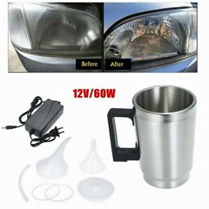 2 Pieces 12V Car Headlight Repair Tool Refurbished Cup and Funnel