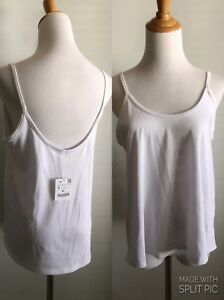 NWT-ZARA-W-amp-B-COLL-WOMENS-S-SMALL-WHITE-RIBBED-A-LINE-LOW-CUT-BACK-SHIRT-TOP-B43