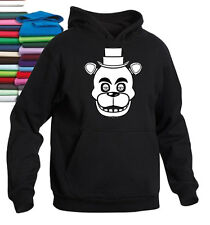 FIVE NIGHTS AT FREDDY'S HOODIE FREDDY FACE CHOICE OF COLOURS & SIZE GREAT GIFT