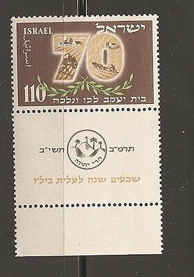 Israel 1952 Bilu Jubiläum Mnh Tab Scott 72 Ballen 78 Briefmarken Israel