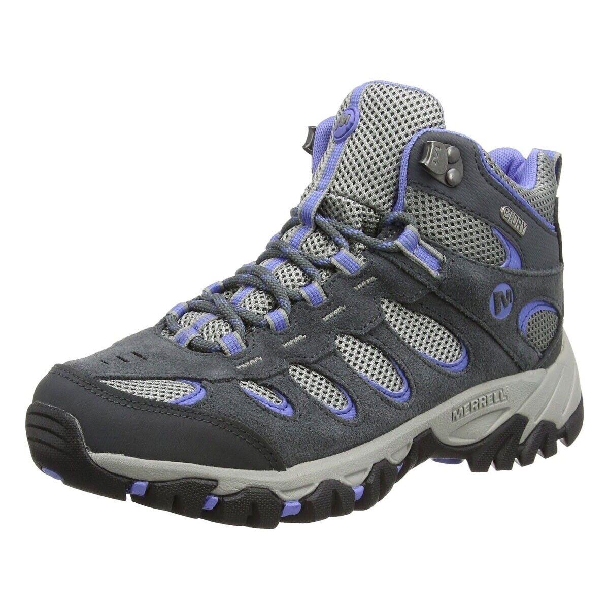 Señoras Merrell ridgepass Mid Gore-Tex Cuero para senderismo y Tobillo botas Zapatos 5.5