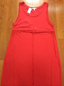 Drawstring Maxi Rosso Nwt 444392000178 Maternity Gap Dress S Taglia A6nH1xn