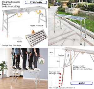 Fold-Away-Work-Platform-Painting-Tree-Trimming-4WD-Car-Wash-Bench-Step-Stool