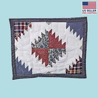 Cotton Pillow Sham Red White And Blue   Renovator's Supply on sale