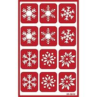 Armour Over N Over Self Stick Reusable Glass Etching Stencils Snowflakes Snow