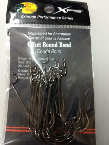 XPS Offset Round Bend Hooks Sz 2//0-1 pkg of 25 hooks Free Shipping!