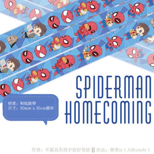 The Avengers Spiderman Homecoming Washi Masking Adhesive Tape Be