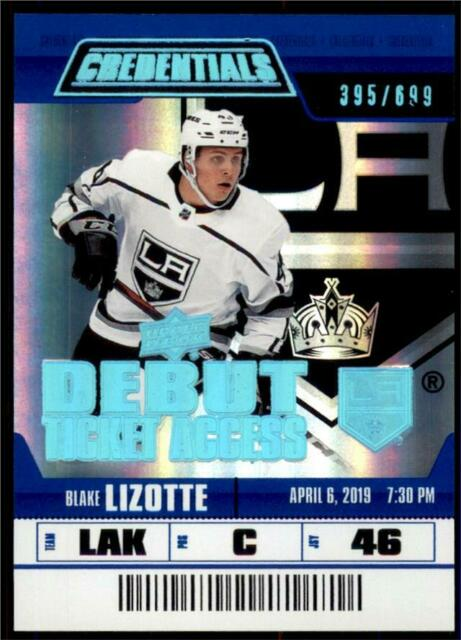 2019-20 Credentials Base Debut Ticket Access #121 Blake Lizotte RC /699