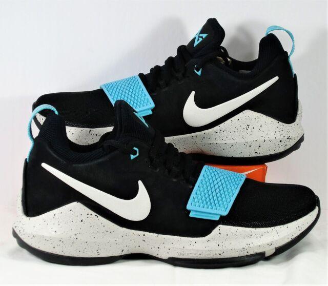 5f627f98e8aa Nike PG 1 Paul George Black   Light Bone   Aqua Basketball Sz 9.5 NEW 878627