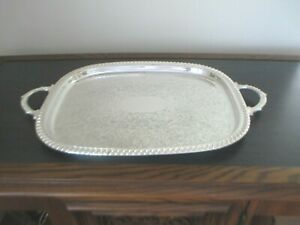 GORGEOUS-SILVERPLATED-SERVING-TRAY-22-034-X-14-034-DOUBLE-HANDLE