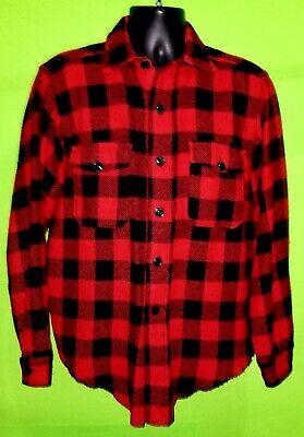 Hunting Jacket Melton Buffalo Plaid  1960/'s Sport Apparel Men/'s Vintage Wool Plaid Jacket
