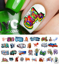 Graffiti Nail Art Waterslide Decals #4 - Salon Quality!