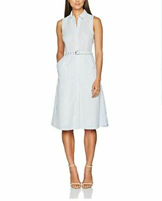 Herzhaft Edc By Esprit Womens Dress Striped Uk 10 Eu 38 Ln097 Bb 11