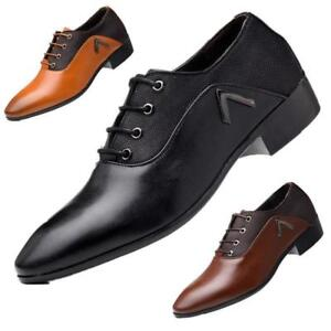 Formal Smart Shoes Dress Oxfords New Mens Gents Leather Lace Up Wide Fit Lot