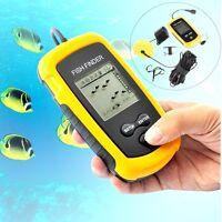 Uk Lcd 100m Fish Finder Fishing Sonar Radar Scanner Sensor Alarm Beam Transducer