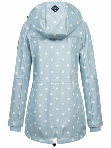 Sublevel Damen Softshelljacke Jacke Regenjacke Mantel Outdoorjacke Dots LSL-405