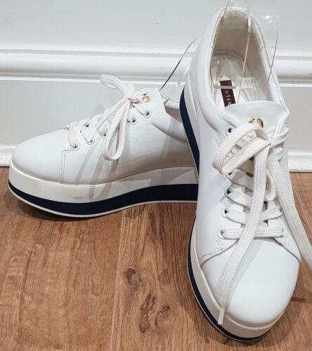 lacci Scarpe ginnastica da in con gomma suola Sneaker e Uk5 pelle Eu38 bianca in qa4Agt