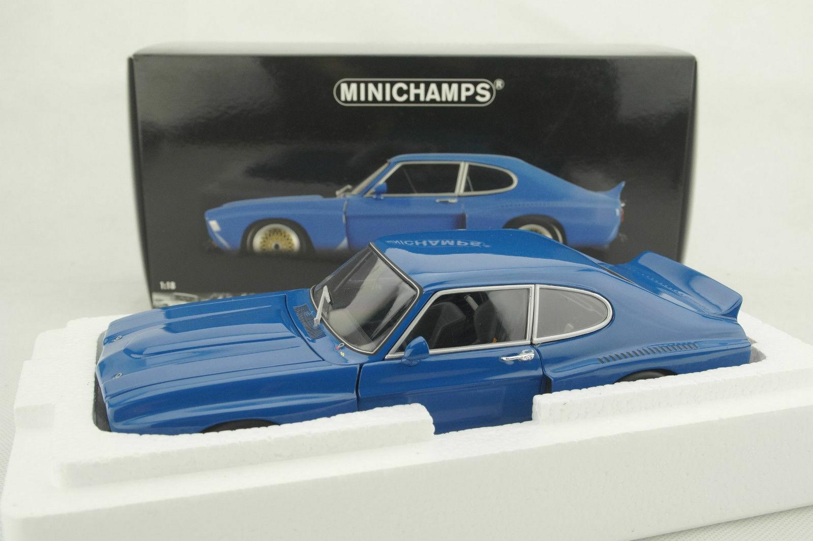 1 18 Minichamps Ford Capri RS 3100 1974 bluee-NEW OVP