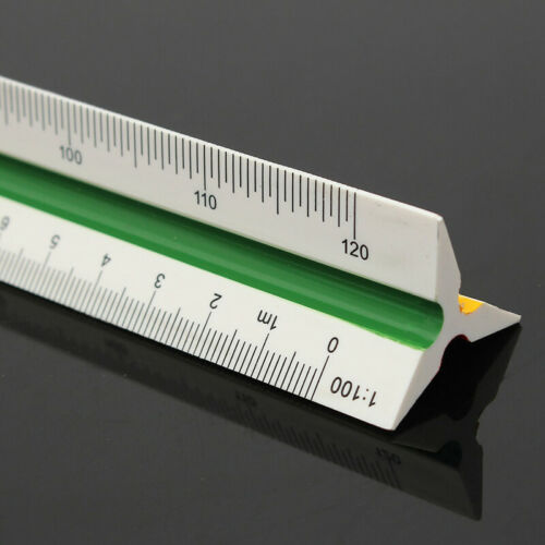 Maßstab-Lineal Maßstabs-Lineal Dreikant-Lineal Reduktion Maßstabslineal Gift