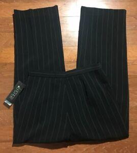 NWT-Kasper-Dress-Pants-Size-6-Womens-High-Rise-Black-Straight-Leg-Trousers