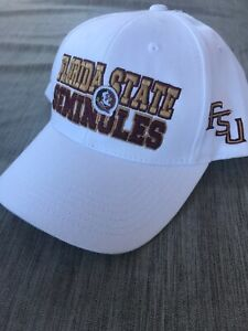 Florida-State-Seminoles-White-Adjustable-Hat-Top-of-the-World-Cap-New-FSU