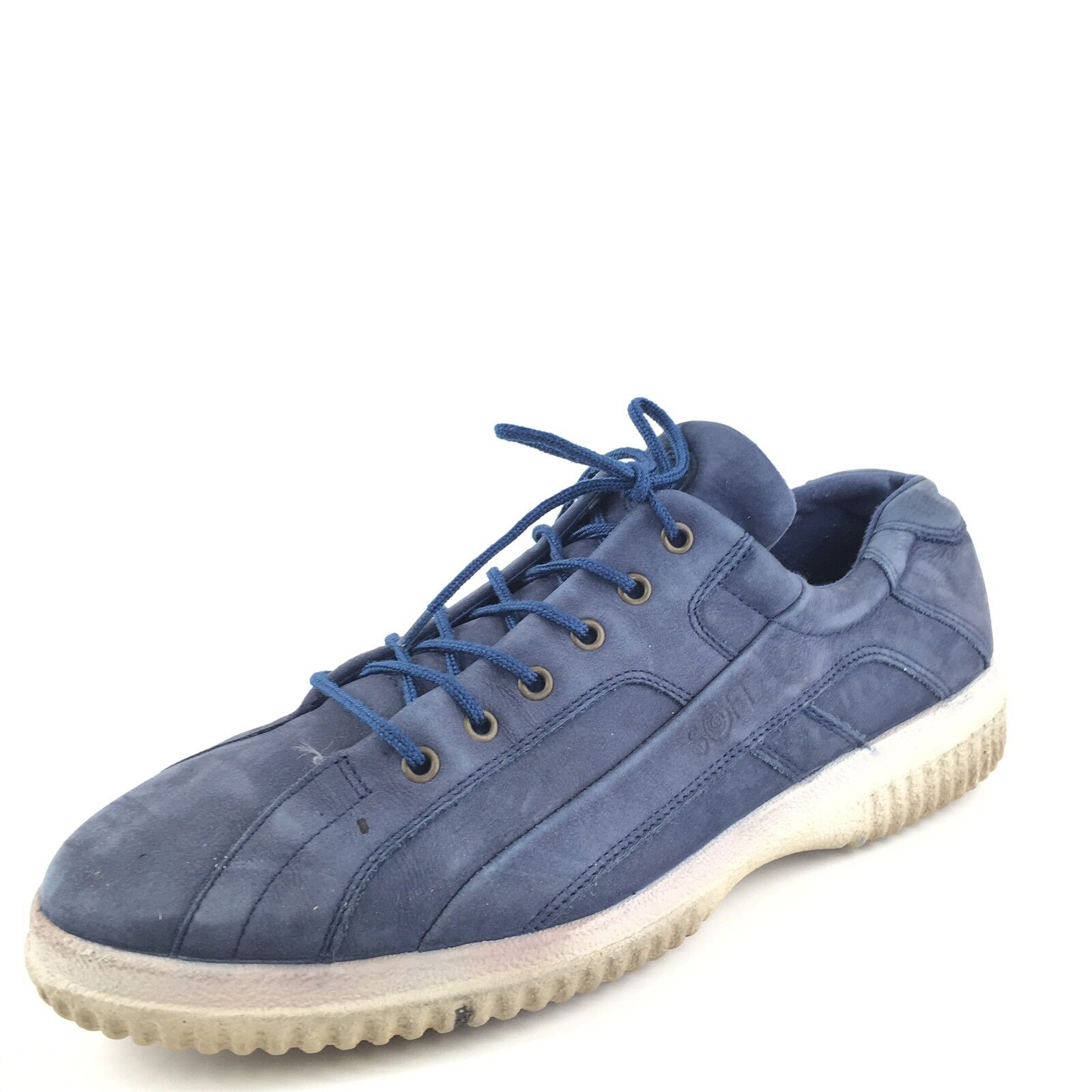 Ecco Soft Blue Leather Lace Up Casual Athletic Sneakers Women's Size 41 M*
