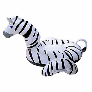 Swimline Zebra 2-Person Ride-On Inflatable Vinyl Swimming Pool Float | 90714