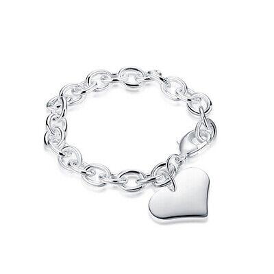 6a90e07660e2 Pulsera de cadena de plata 925 de Fahion hermoso regalo joyas 7Styles