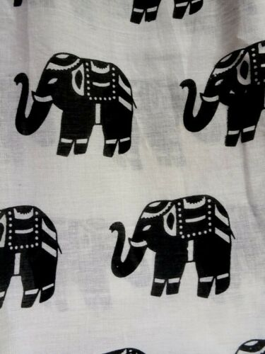 GRINGO Elephant Print Boho Coton Pantalon Baggy Pantalon Taille 8-Festival 16