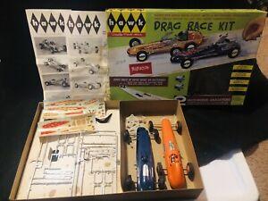 HAWK-DRAG-RACE-KIT-MOTORIZED-DRAGSTER-Vintage