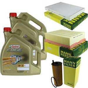 Inspektionskit-Filter-Castrol-10L-Oil-5W30-for-Audi-A4-Avant-8ED-B7-2-7