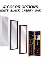 Mirror Jewelry Armoire Over Door Hanger Wall Mount Organizer Storage Cabinet Box