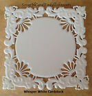 • • • Die Cuts ~ Embossed SQUARE Mats x4 ~ White ~ Stampin Up C/S ~ Cards