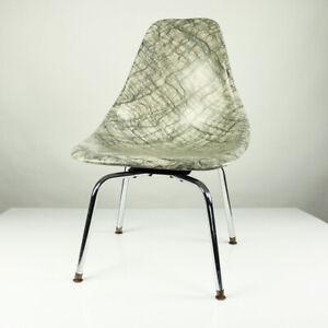 Burke-Inc-USA-Fiberglas-Dreh-Stuhl-Glasfaser-Side-Shell-Chairs-Special-Edition