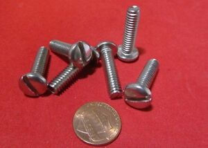 """Truss Head Stainless Steel Slotted Screw 1//4-20/"""" x 1 1//4/"""" Length 50 Pcs"""